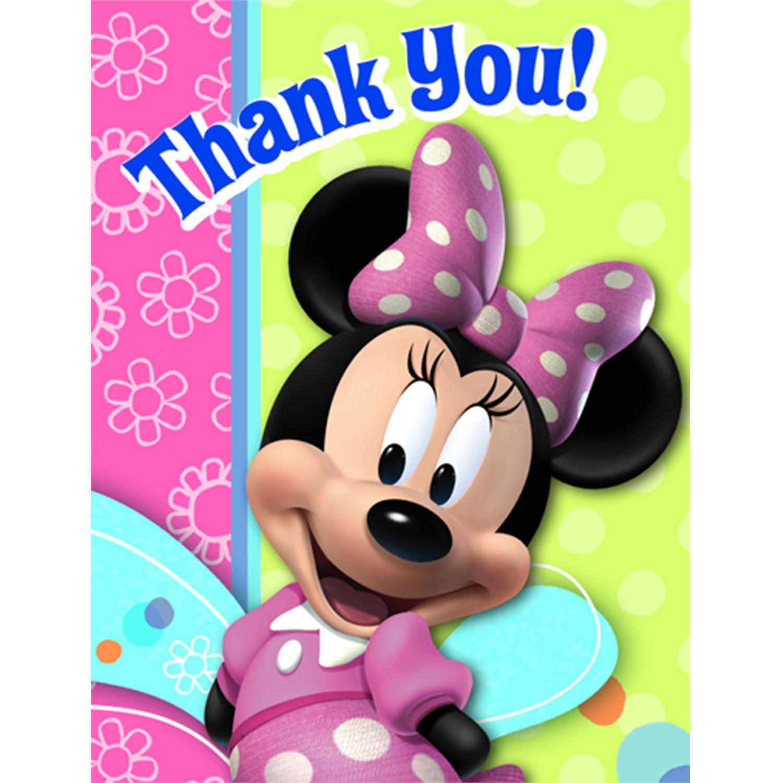 amazon com minnie mouse bow tique thank you notes w envelopes