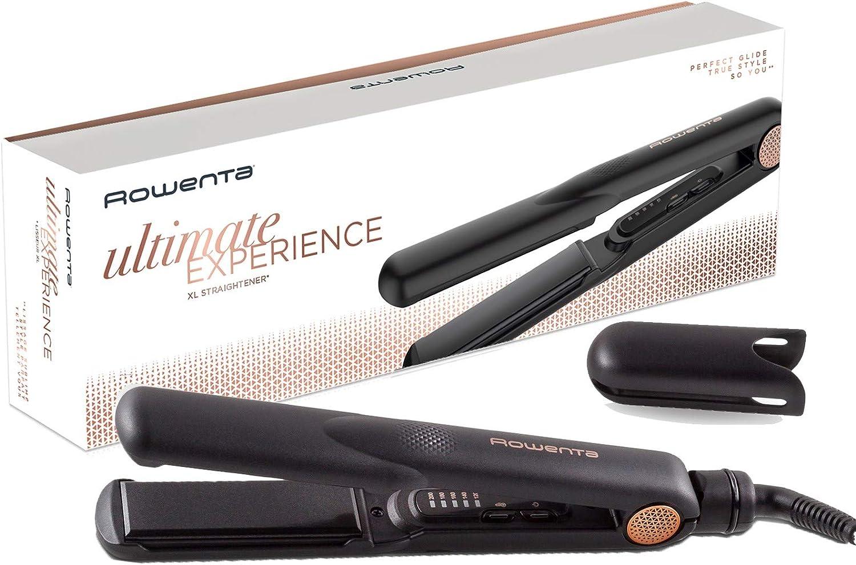 Rowenta Ultimate Experience SF8220 Plancha profesional con 5 ajustes de temperatura, deslizamiento óptimo, placas de anchas de 3 cm y calientamiento rápido, para todo tipo de cabellos