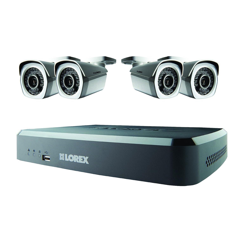 Lorex LNR1182TC4P - Sistema de seguridad NVR HD (1080p) color negro y blanco: Amazon.es: Electrónica