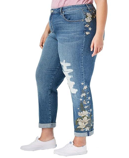 Amazon.com: Style&Co - Pantalones vaqueros bordados ...
