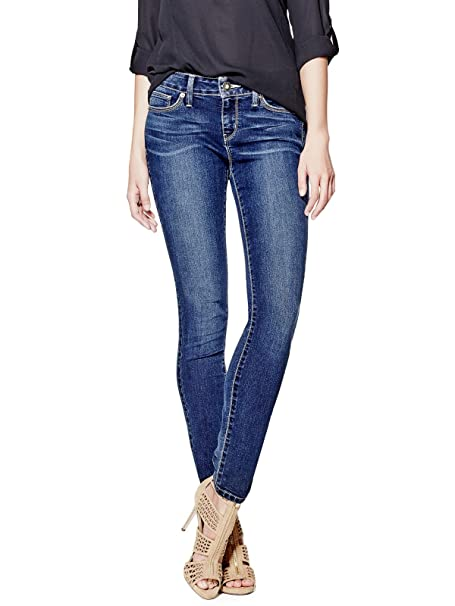 GUESS Factory de la Mujer Sienna Curvy Skinny Jeans Oscuro ...