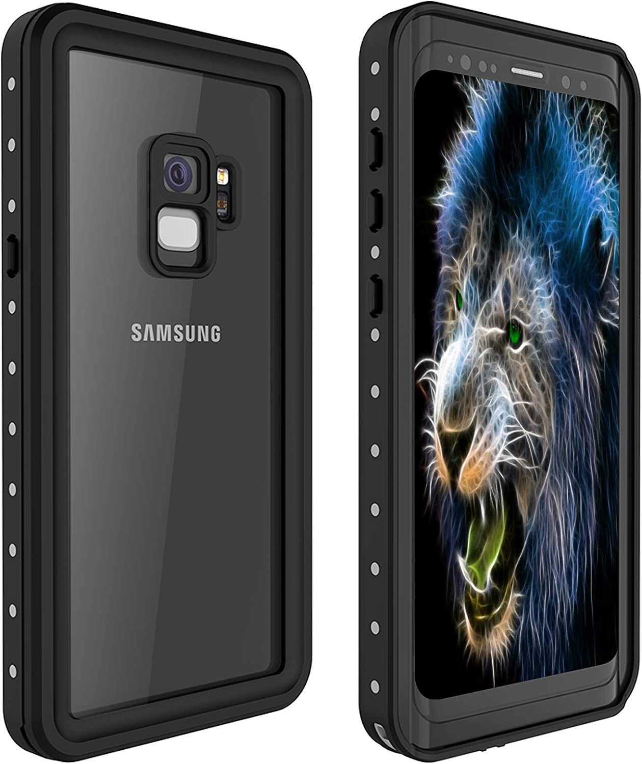 Galaxy S9 Plus Waterproof Case, itayak Waterproof Shockproof Dustproof Dirtproof Full Body Case Built in Screen Protector with Touch ID for Samsung Galaxy S9 Plus (Black)