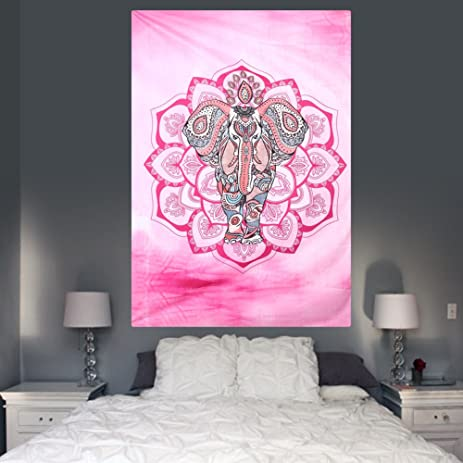 Amazon.com: Indian Style Wall Tapestry Elephant Tapestry Home Decor ...