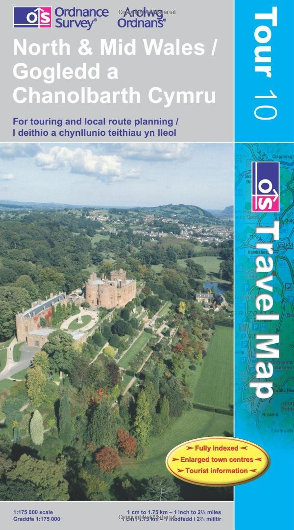 North and Mid Wales (OS Travel Map - Tour Map)
