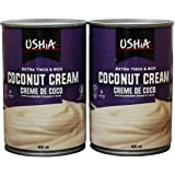 Dairy-free Unsweetened Coconut Milk Extra Thick Cream Lactose Free Kosher 13.5-oz Can - Pack of 2 - By Ushia