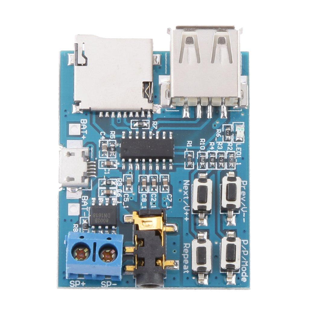 Tiny Kit Usb Mp3 Player Module Electronics 20w Audio Amplifier Circuit Using Stk0025 Unknown Generic Format U Disk Tf Card Decoder Board