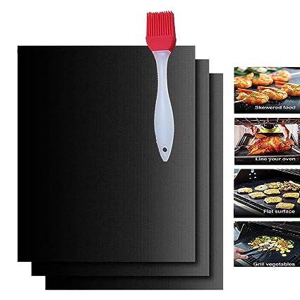 Barbacoa MAT, antiadherente bandeja de horno microondas cocinar alfombrillas de teflón de maletero – resistente