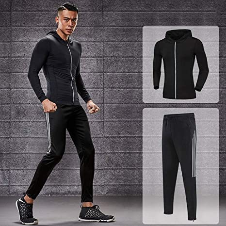 Men/'s Compression Tracksuits Long Sleeve T-Shirt Athletic Cool Dry Running Tight