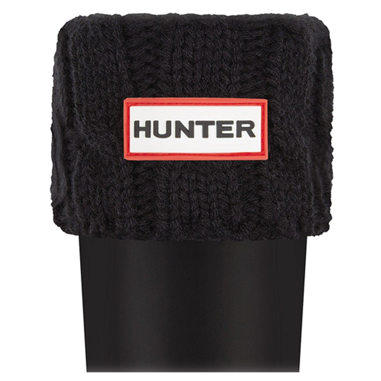 Unisex Adults Hunter 6 inch Cable Socks Original Tall Thermal Wellington B01JUP4AM4 11-13|Black