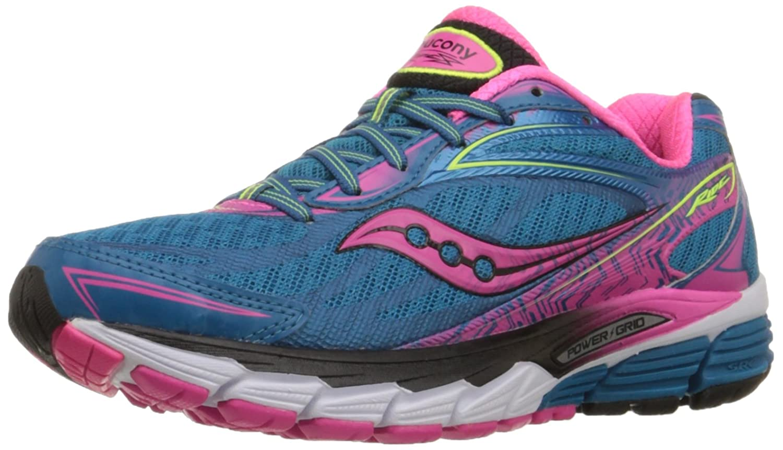 Saucony Women's Ride 8 Running Shoe B00QHLQL04 5 B(M) US Deepwater/Pink/Citron