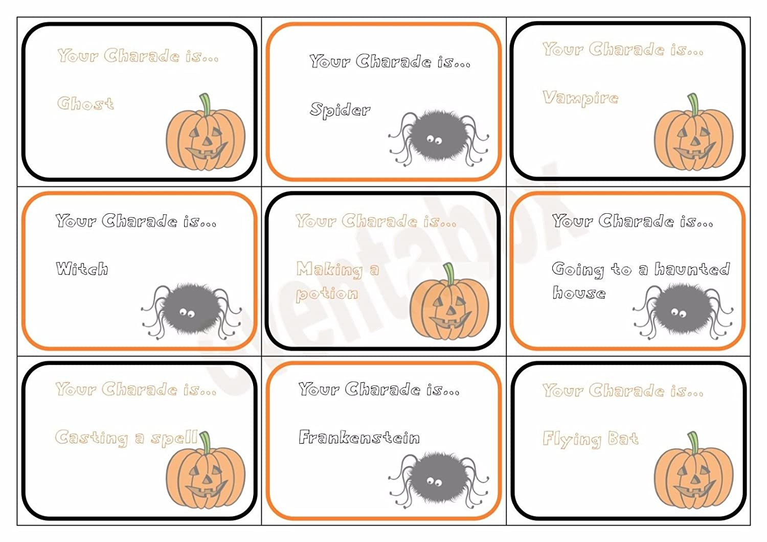 Halloween Charades Party Game Children Family Activity Spooky Scary Upm Thermostat Wiring Diagram Toys Games