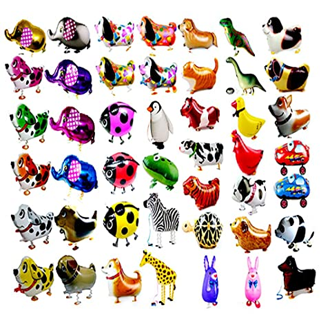 7 PCS / Set animales de paseo Balloon Kids Decoración de la ...