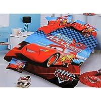 Blenzza deco® Glace Cotton Cartoon Print Comforter Set for Single Bed (1 Single bedsheet,1 Pillow Cover,1 Comforter)-car