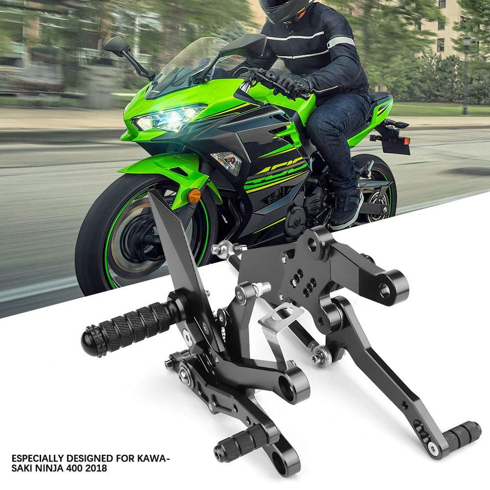 lega di alluminio per moto Poggiapiedi poggiapiedi regolabile super cool regolabile per Nin-ja 400 2018 EBTOOLS Pedana poggiapiedi Green
