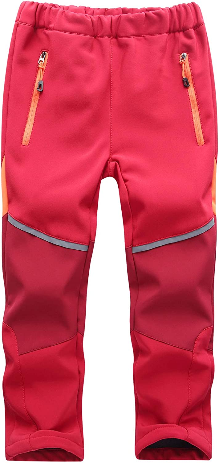TOSKIP Youth Snow Pants with Reinforced Knees and Seat,Warm Climbing Trousers for Boys and Girls