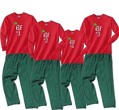 santas elf 1 red pajama set adult small ls gdot - Elf Christmas Pajamas