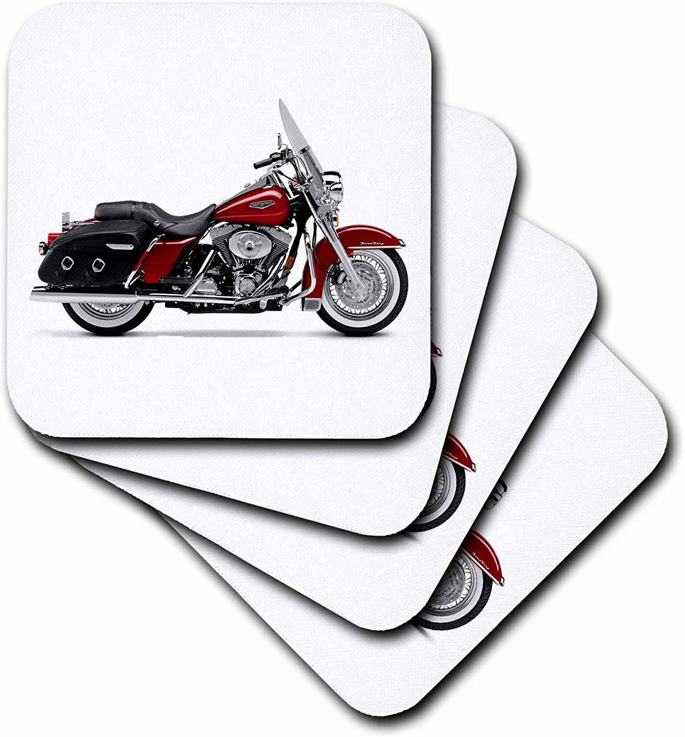 3dRose qs/_4839/_1 Quilt Square Picturing Harley-Davidson and No.174 Motorcycle