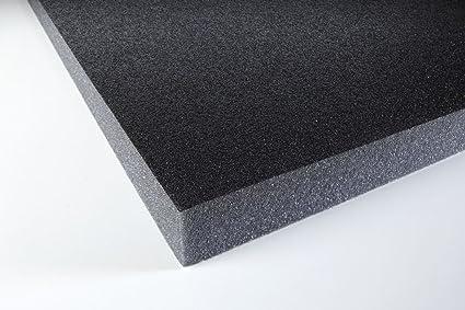Espuma acústica Eurokustik con capa protectora autoadhesiva negra, 1 unidad, pushki30ad