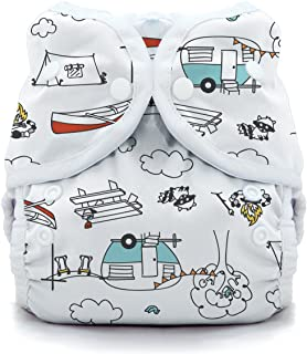 product image for Thirsties Duo Wrap Cloth Diaper Cover, Snap Closure, Happy Camper Size One (6-18 lbs)