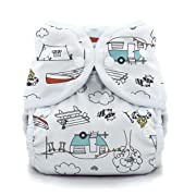 Thirsties Duo Wrap Cloth Diaper Cover, Snap Closure, Happy Camper Size One (6-18 lbs)