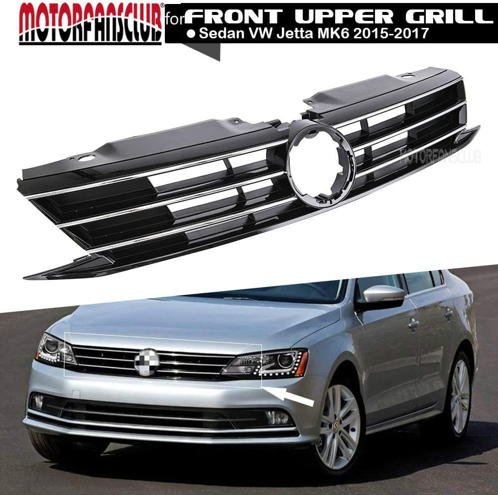Amazon.com: MotorFansClub front Grill fit for compatible with Volkswagen  Jetta MK6 2015 2016 2017 Insert Bumper Upper Grille: Automotive
