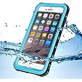 KYOKA iPhone7 防水ケース 指紋認証対応 防水 耐震 防塵 耐衝撃 IP68 アイフォン7 防水ケース 防水カバー (iPhone7, ブルー)