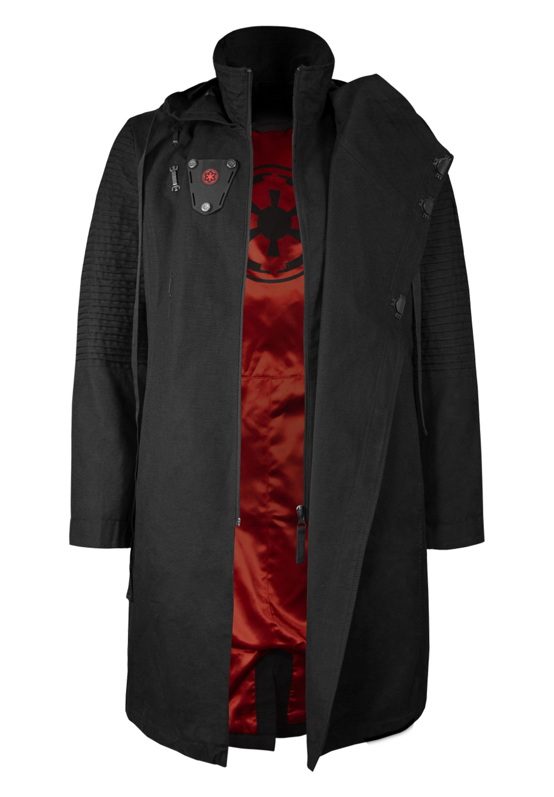 Musterbrand Star Wars Men Hooded Coat Sith Lord Black L
