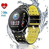 CanMixs CM10 Montre Connectée Smartwatch, Bracelet dactivité avec Moniteur de fréquence Cardiaque,