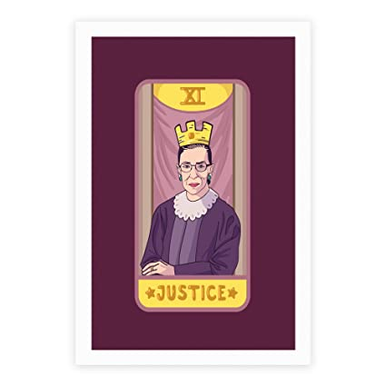 LookHUMAN Ruth Bader Ginsburg Justice Tarot White 8 x 10 Inch Giclee Art  Print Poster