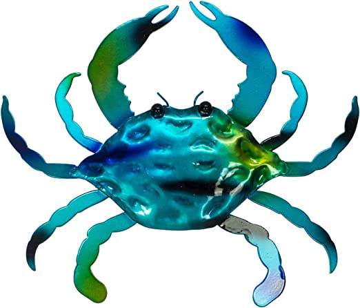 NEW 4/'/' Maryland Blue Crab Wall Plaque Decor Hand Painted