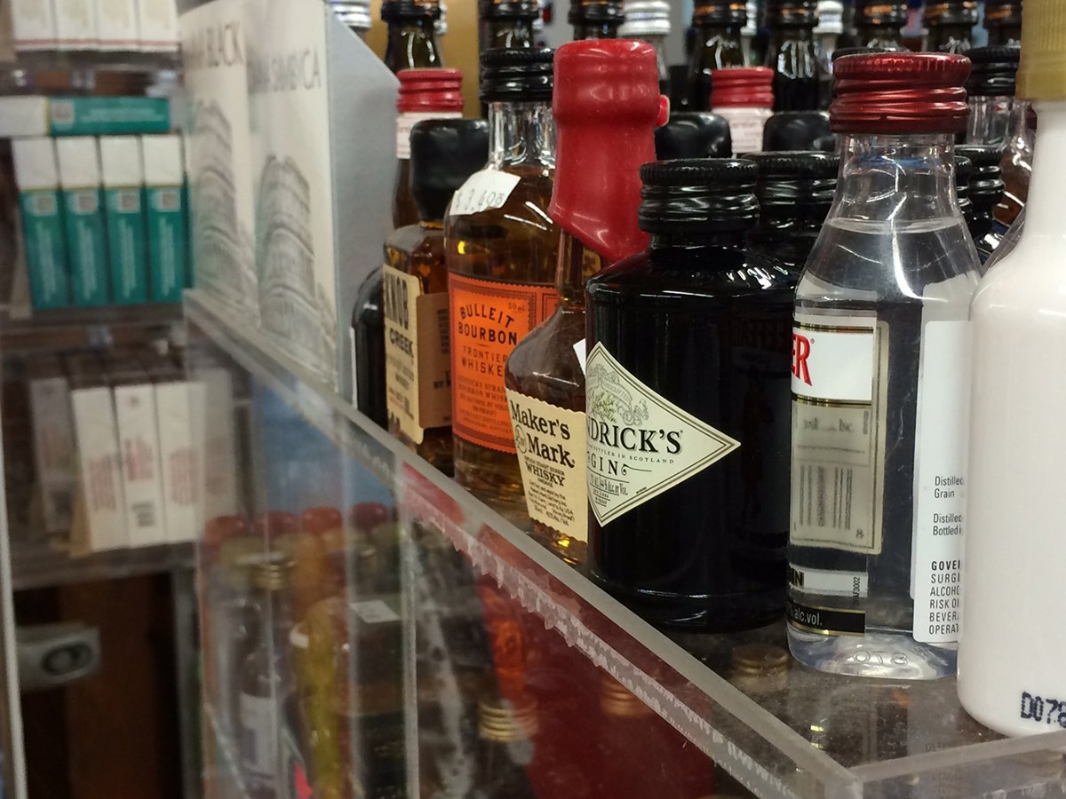 Commercial Retail Display for Mini Sampler 50ml Liquor Shot Airplane Bottles Nips Also Any Other Point of Sale Items by RCS Plastics (Image #5)