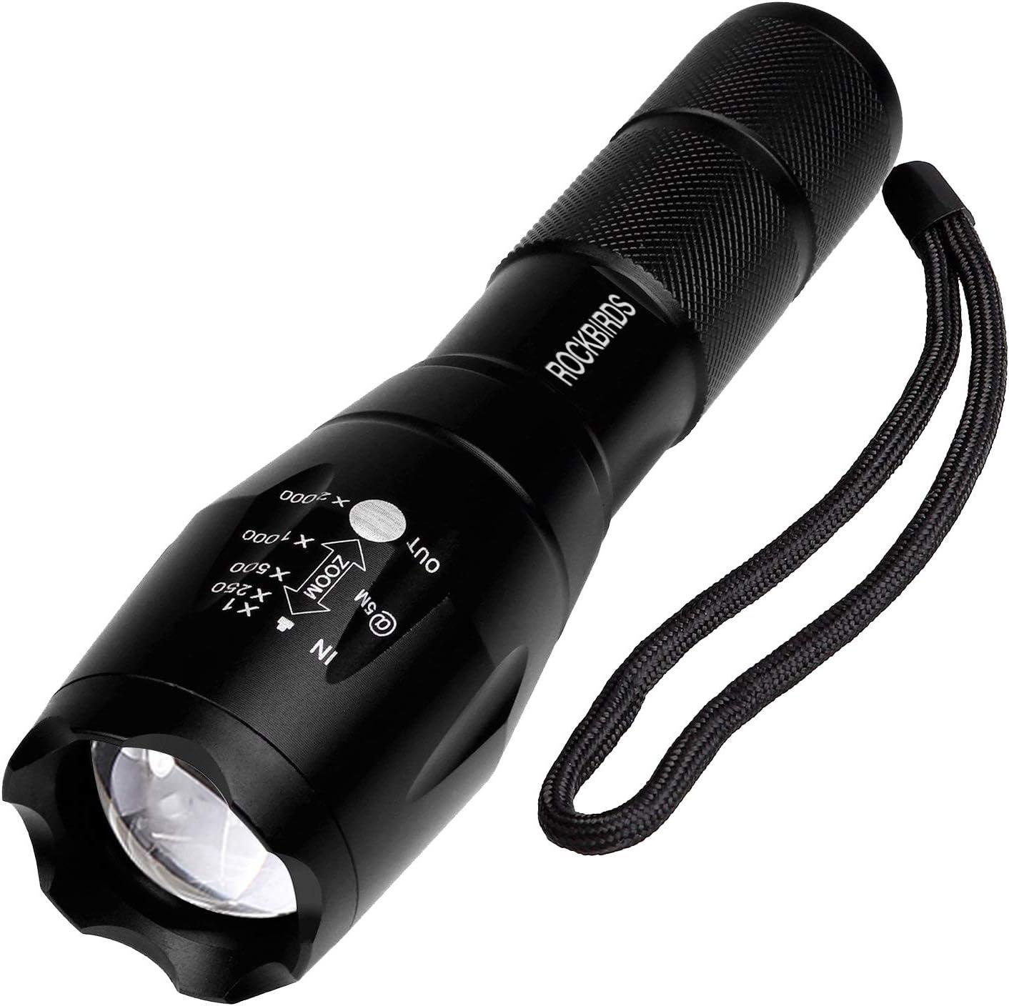 TotaLohan Red Light Flashlight Mini RED Led Flashlight Torch Adjustable Focus Zoom Red Light,3-Pack