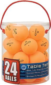 24-Count Halex 59125 Velocity Tub Of Table Tennis Balls (Orange)