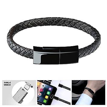 Bsolli Bracelet Cable USB C pour Samsung S9/S9+ S8/S8+(9.1inch)