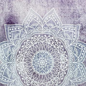 jingyuu tapiz pared indio, tapicería mandala, Tapestry - Tapicería pared hippie, tejido indio dorado Mandala tentures murales indias 150 * 100cm Style-4: ...