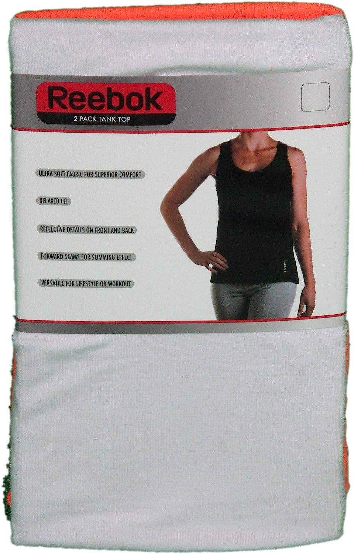 Reebok Ladies Size 2XL 2-Pack Ultra Soft Tank Top White/Coral