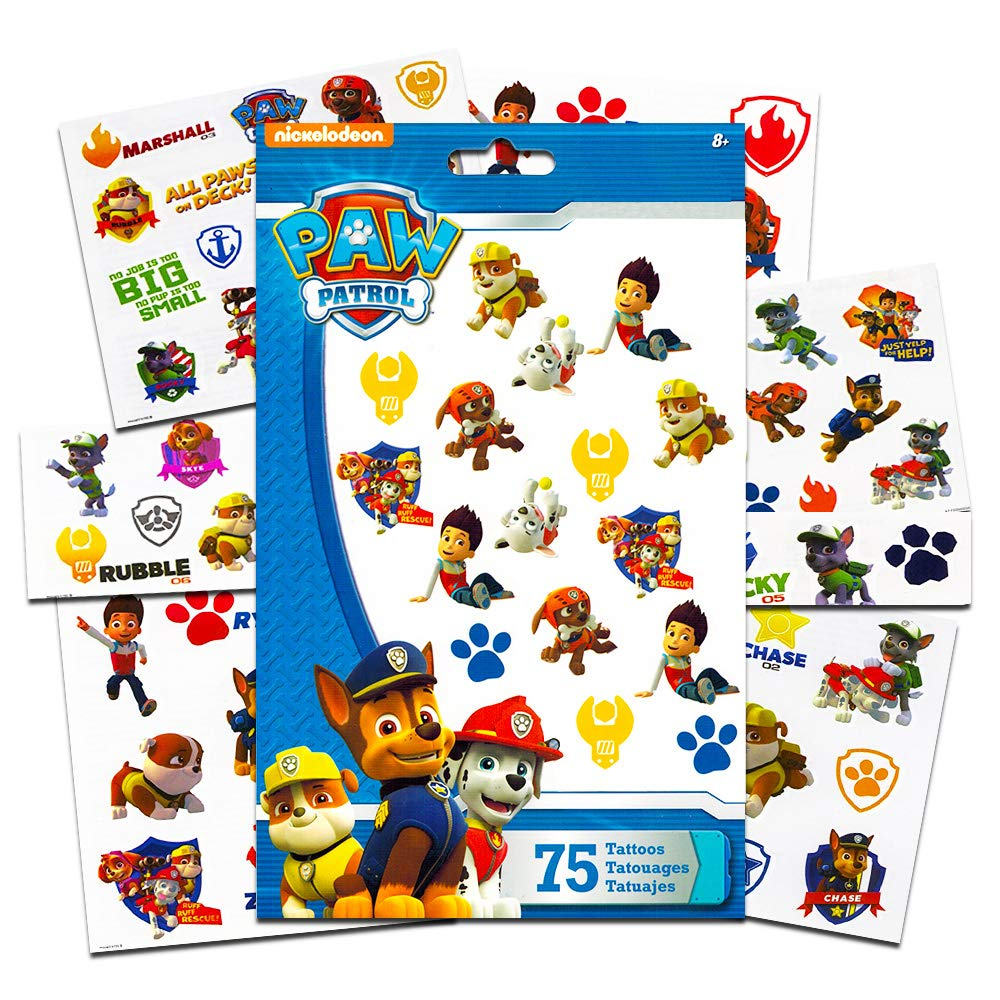 PAW Patrol Tattoos (75 Temporary Tattoos) by PAW Patrol: Amazon.es ...