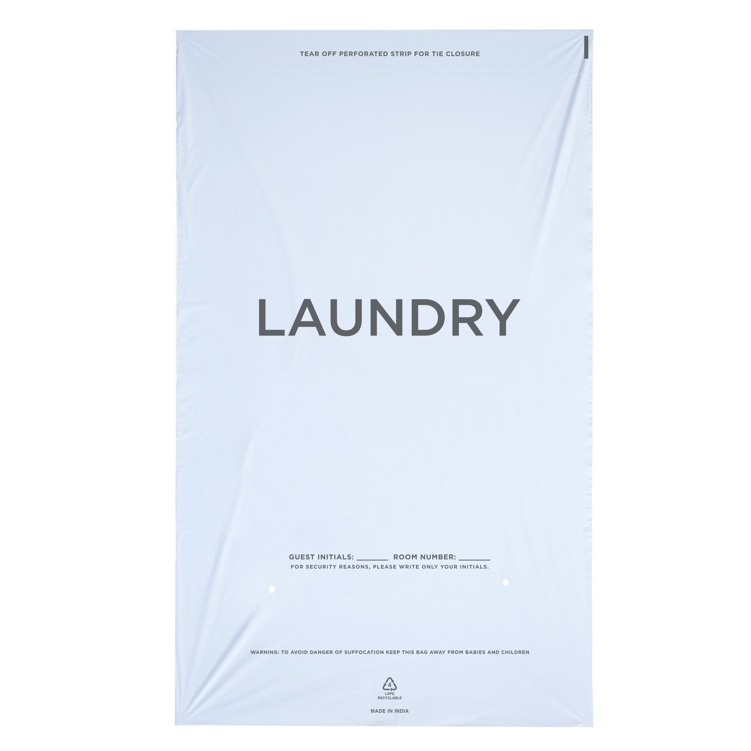 WELCOME Laundry Bags Hospitality - 14 X 24 Hotel Laundry Bags - Tear Tape Tie Closure White Plastic (Case of 1000)