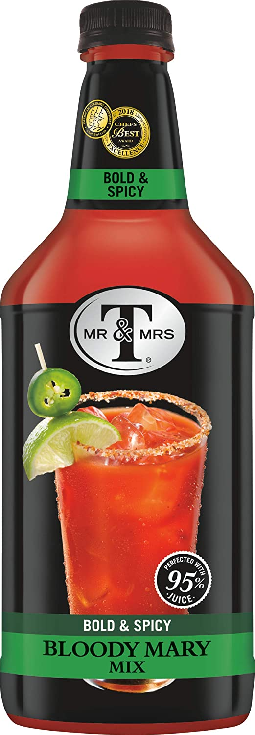 B0065QEB3K Mr & Mrs T Bold & Spicy Bloody Mary Mix, 1.75 Liter Bottle (Pack of 6) 71upUHY6iLL
