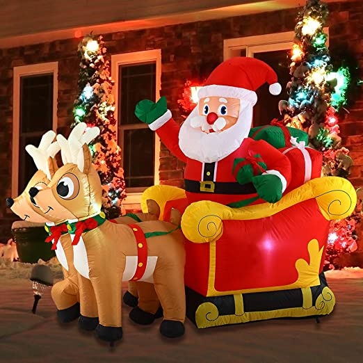 Amazon.com: Joiedomi Navidad inflable decoración 6 pies ...