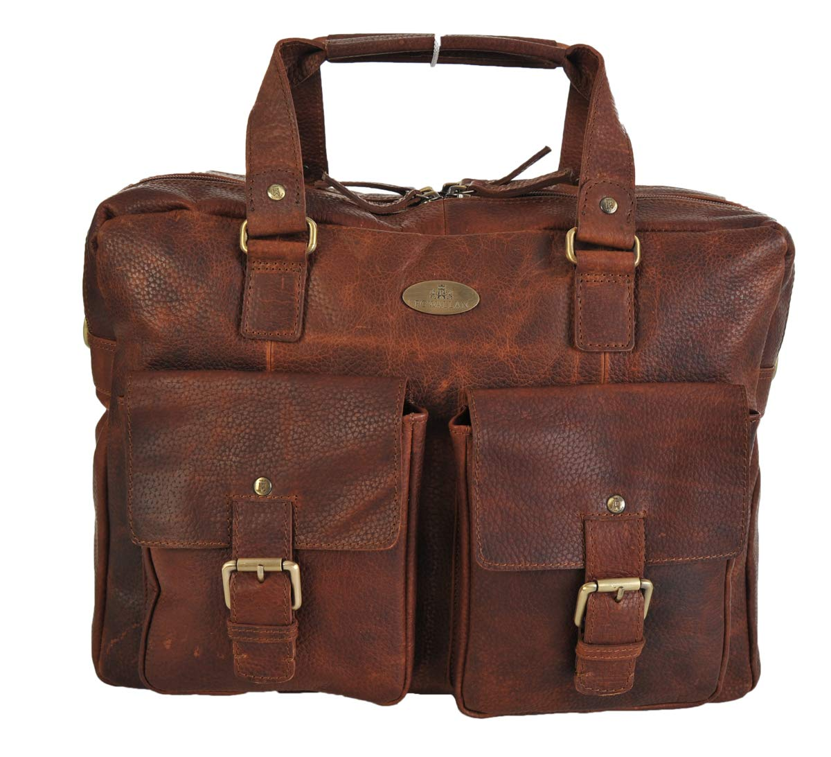 Rowallan Large leather Two Section Work Travel Overnight Bag 32-1209 RRP £149.99