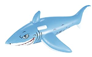 H2OGO! Great White Shark Rider Inflatable Pool Float