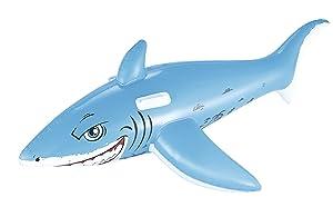 H2OGO! Great White Shark Rider Inflatable Pool Float