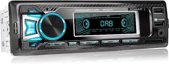 Xomax Xm Rd275 Autoradio Mit Dab Tuner Und Antenne I Elektronik