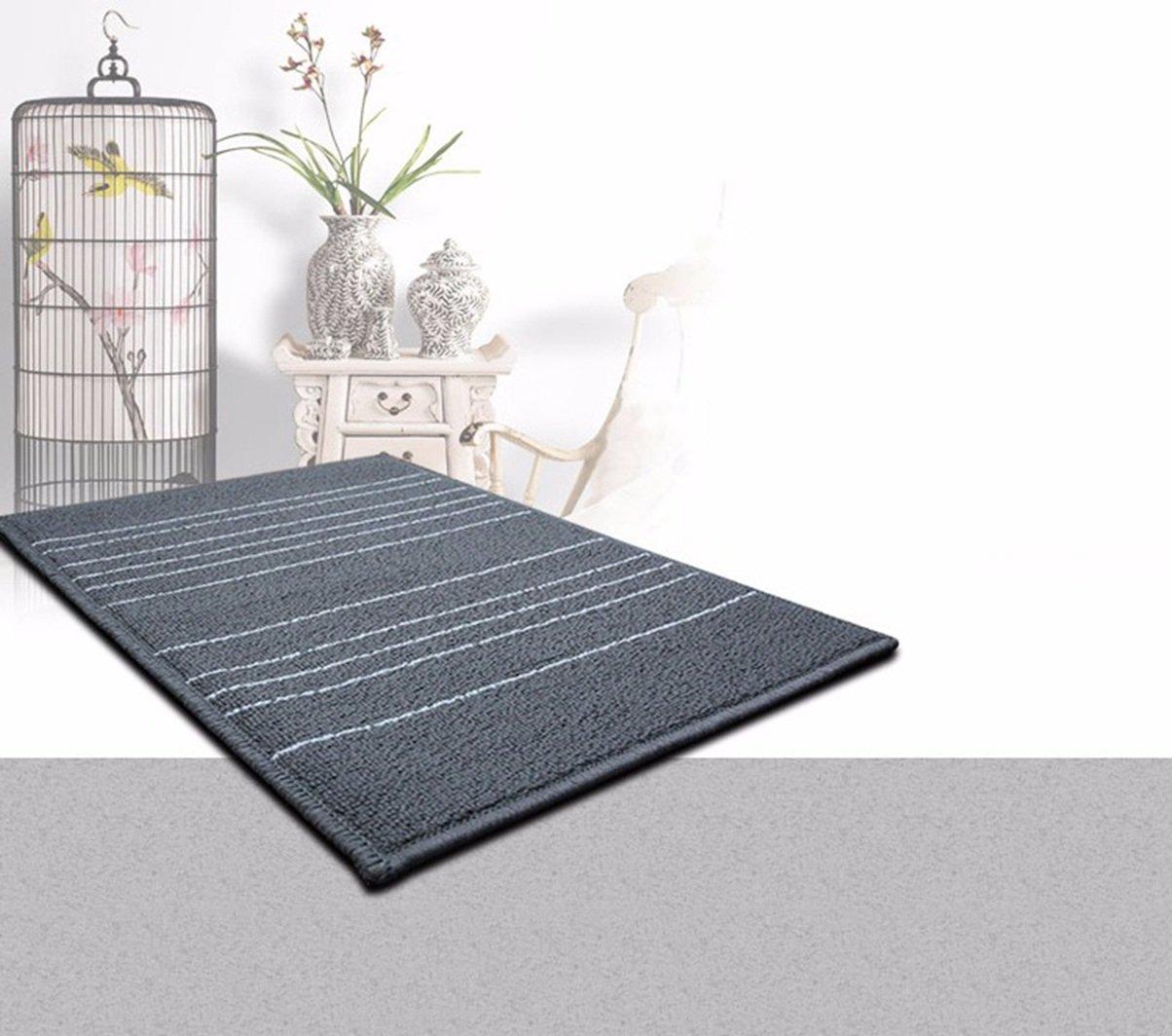 JCRNJSB® シンプルな黒と白の縞模様のカーペットソファカーペットベッドサイドベッドカーペットリビングルームのコーヒーテーブルマット長方形大型カーペット ノンスリップ、環境保護   B078HSCYJC
