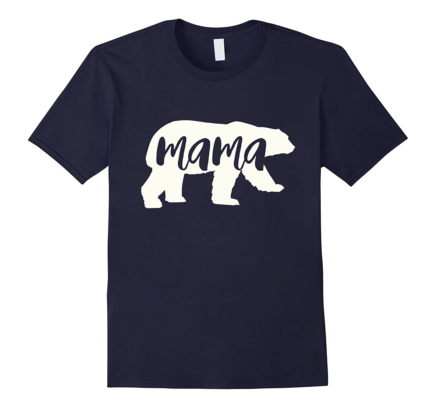 mama bear shirt white-TH