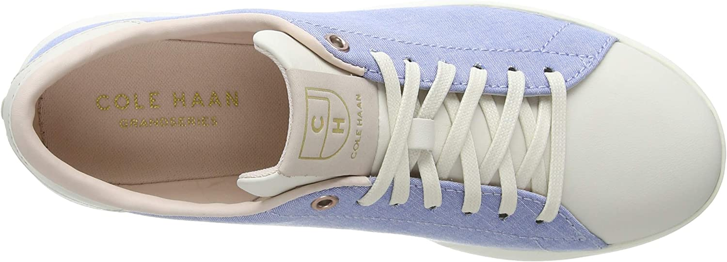 Cole Haan Women's Grandpro Tennis Sneaker Trainers Blue (Chambray/Peach Blush/Rose Gold/Ivory Chambray/Peach Blush/Rose Gold/Ivory)