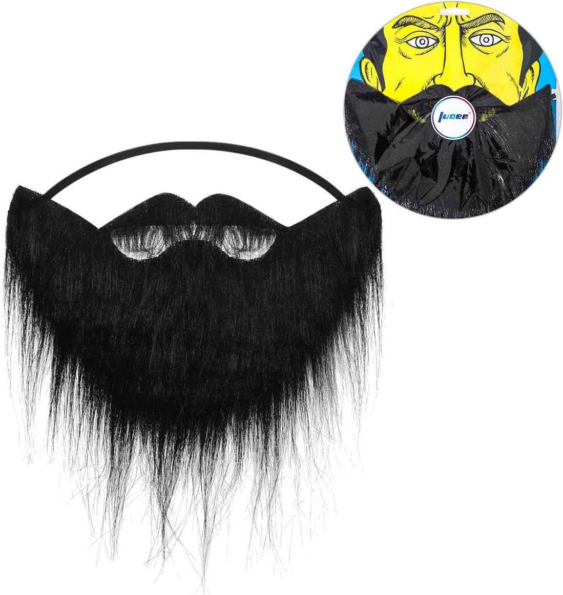 NLSD Funny Costume Party Male Man Halloween Beard Facial Hair Disguise Game Black Mustache