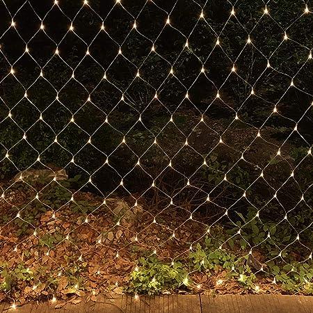 HEIFEN LED Luz Acoplamiento Rejilla Hada Jardín La Luz Lámpara,Arbusto De,Boda,decoración Al Aire Libre 8 Clases Intermitente Way Luz Navidad A Prueba Agua Baja Presión Warm White 2M*2M: Amazon.es: Hogar