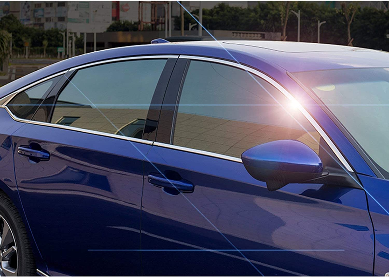 Xotic Tech 6pcs Stainless Steel Car Window Lower Bottom Frame Cover Molding Trim for Honda Accord 10th 2018 2019